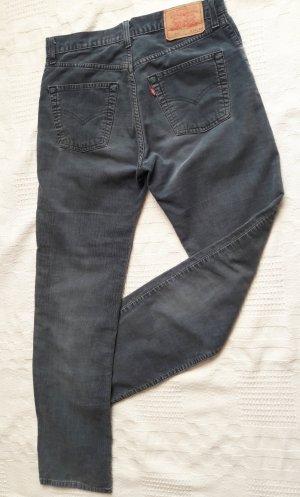 Levi's Pantalon en velours côtelé bleu-bleu acier coton