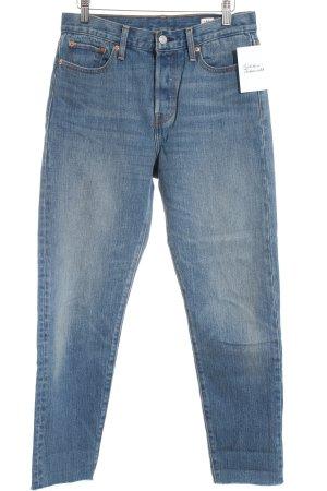 Levi Strauss High Waist Jeans blue casual look