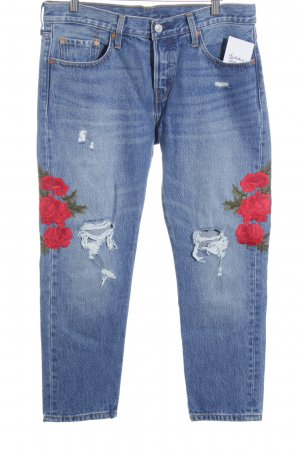 Levi Strauss High Waist Jeans Blumenmuster Casual-Look