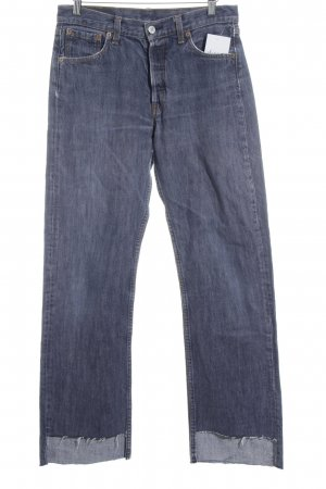 Levi's Low Rise Jeans steel blue second hand look