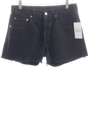 Levi Strauss Jeansshorts schwarz Street-Fashion-Look