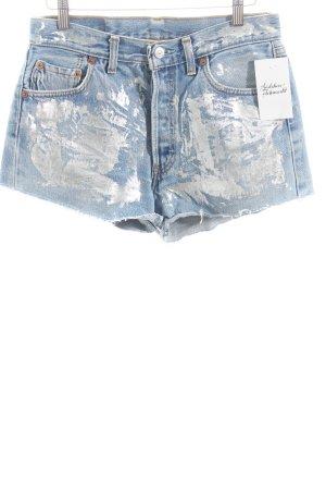 Levi Strauss Jeansshorts silberfarben-hellblau Street-Fashion-Look
