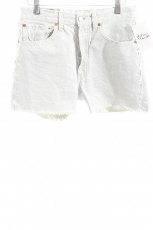 Levi Strauss Jeansshorts wollweiß Casual-Look