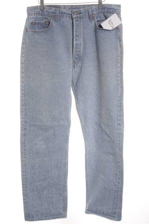 Levi Strauss Jeans carotte beige clair-bleu azur moucheté style des années 90