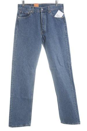 Levi Strauss Jeans carotte bleu acier moucheté style des années 90