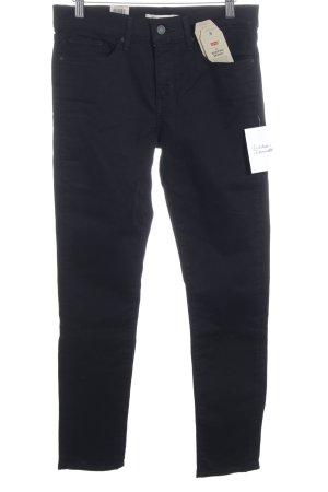 Levi Strauss Skinny Jeans schwarz Casual-Look