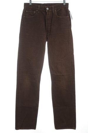 Levi Strauss Straight-Leg Jeans braun 90ies-Stil
