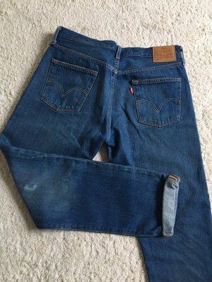 Levi's Boyfriend Trousers dark blue-steel blue