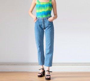 levis 501 highwaist jeans W29 / L32 mittelblau S 36