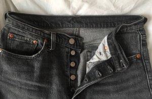 Levi's Pantalon taille haute gris foncé