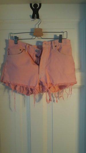 Levis 501 jeansshort rosa