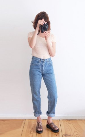 levis 501 mom jeans hellblau highwaist 36 S