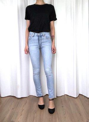 Levi's Hoge taille jeans blauw-lichtblauw Katoen