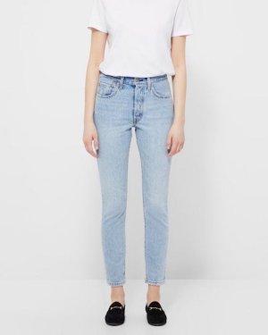 Levis 501 Skinny Jeans Vintage Blau W23-24 L30 Mom High Waist Cosy 70ies Rock 'n' Roll