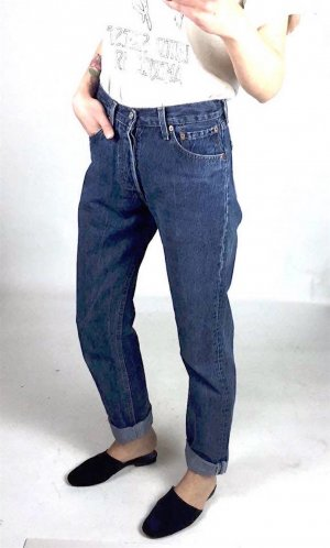 Levis 501 Vintage Denim Mom Jeans Cosy Blogger High Waist Trend W28 L32