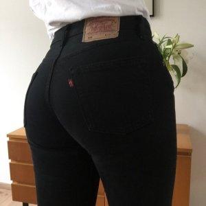 Levis 501 Vintage schwarz Jeans Denim Karotten Form