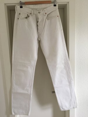 Levis 501 wollweiß Jeans