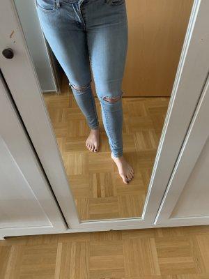 Levi's Pantalon cigarette bleu azur