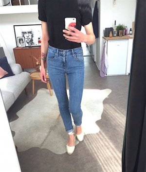 Levis 721 High Rise Skinny Jeans W25 Cosy Vintage 70's Slim Blogger Trend Mom