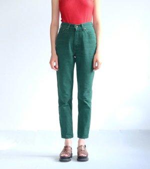 levis highwaist karotten jeans denim dunkelgrün sonderfarbe W28/L32 S 36 38