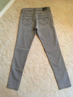 Levis Jeans grau, Low rise, skinny