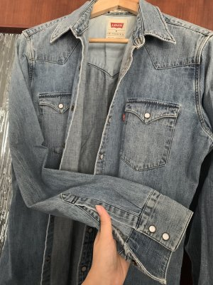 Levi's Long Sleeve Shirt dark blue