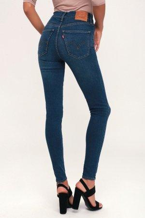Levi's Jeans taille haute bleu tissu mixte