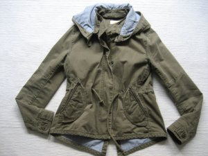levis parka jacke khaki neuwertig gr. s 36 mit kaputze