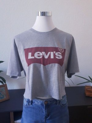 Levi's Cropped Shirt silver-colored-dark red