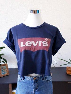 Levi's Cropped Shirt dark blue-dark red