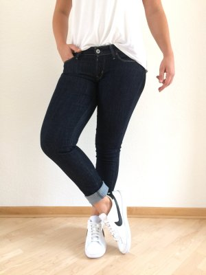 LEVIS skinny slight curve Jeans 28/34 dunkelblau wie Neu Denim slim dark Blue