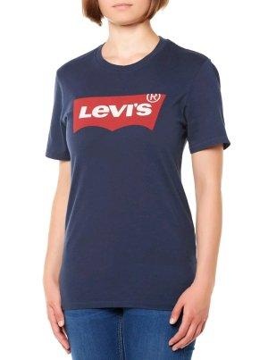 Levis Tshirt Dunkelblau Aufschrift Print M 40
