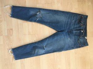 Levi's 7/8-jeans blauw Katoen