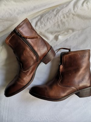 John Lewis Ankle Boots brown-cognac-coloured leather