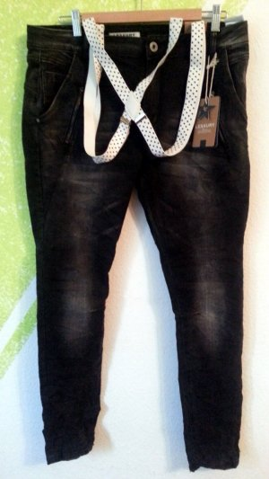 Lexxury Jeans   Stretch schwarz Neu Trend 2016 Highlight Gr 42 44