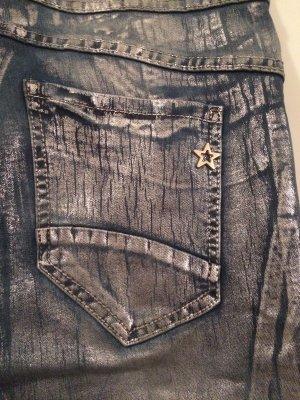 Lexxury Skinny Jeans Blau-Silber Gr. M/L *NEU*