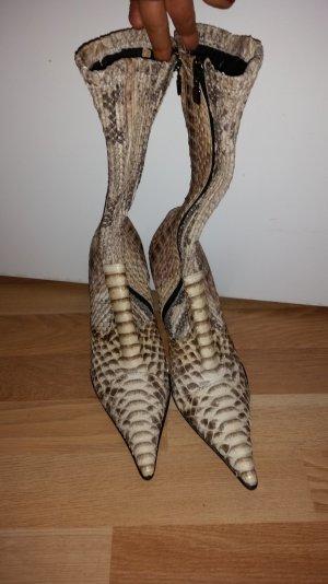 Lezilla Schlangenleder Stiefel