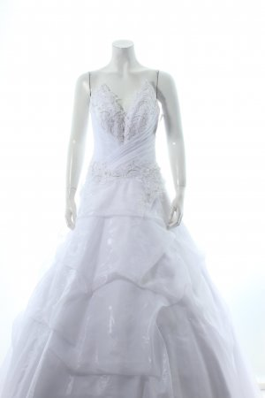 liana design Brautkleid weiß florales Muster Eleganz-Look