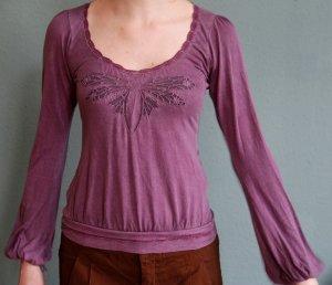 Libelle Langarm Shirt mit romantischen Elementen