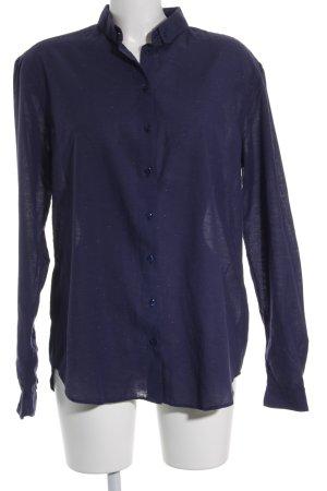 libertine-libertine Langarmhemd dunkelblau Punktemuster Casual-Look