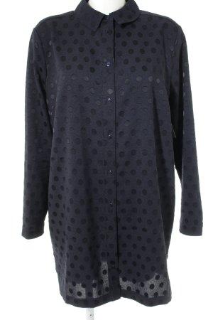 libertine-libertine Long-Bluse dunkelblau Punktemuster Casual-Look