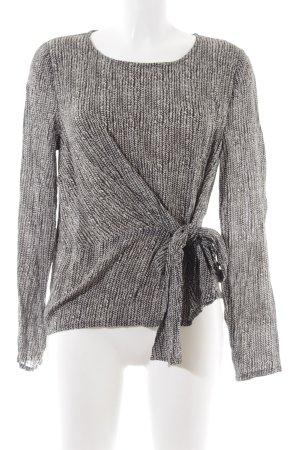 libertine-libertine Camicetta aderente nero-bianco motivo grafico stile casual
