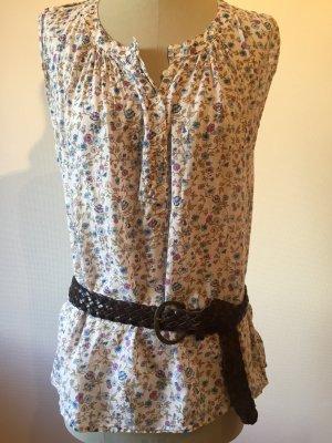 Liberty Bluse mit süßem Blumenprint Baumwolle Gr. 36-38 Benetton