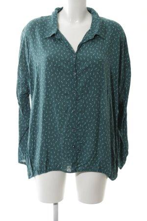 Liberty Hemd-Bluse grün abstraktes Muster Casual-Look