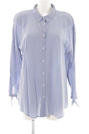 Liberty Hemd-Bluse blau-weiß Streifenmuster Casual-Look