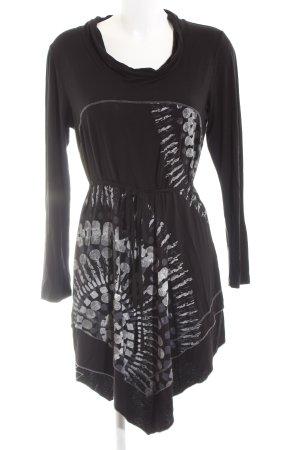 Liberty Jerseykleid schwarz abstraktes Muster Casual-Look