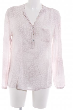 Liberty Langarm-Bluse rosé-weiß Leomuster Casual-Look