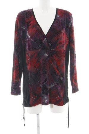 Liberty Longtop schwarz-rot Allover-Druck Street-Fashion-Look