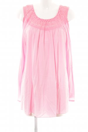 Liberty Spitzenbluse pink Zopfmuster Casual-Look