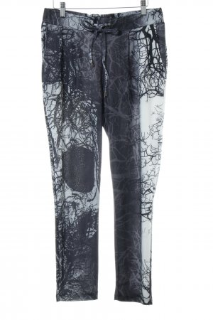 Liberty Stretchhose dunkelblau-weiß abstraktes Muster Casual-Look